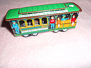Tin Toy Train Friction Car Municipal Railways