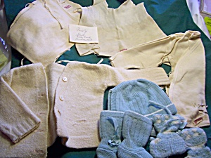 Vintage Baby Clothes And Accessories Lot