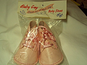Vintage Baby Gay Baby Shoes Pink