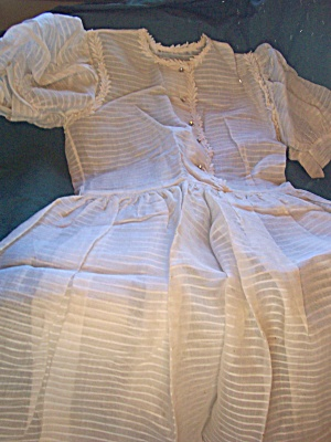 Vintage Childs Or Womens Organdy Dress