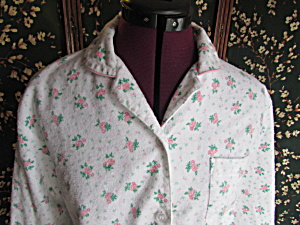 Vintage Rebecca Lynn Pajamas Size Small Floral Cotton