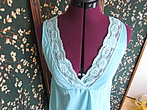 Vintage Nans Flower Nylon Nightgown Size Medium