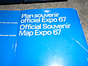 Worlds Fair Map Montreal 1967