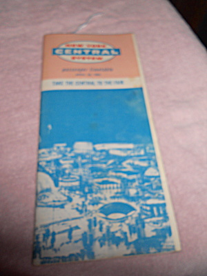 New York Worlds Fair Train Timetable 1965