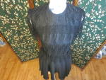 Click here to enlarge image and see more about item 1030-17: Vintage Night Way Black Flapper Formal Dress Size 4
