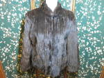 Saga Mink Coat Corded Strolling type Rolled Collar M-10