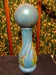 Click to view larger image of Ceramic Garden Ball and Pedestal circa 1970s (Image2)