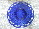 Click here to enlarge image and see more about item 579-17: Imperial Art Glass Dot and Sugar Cane Cobalt Blue Plate