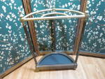 Click to view larger image of Vintage Umbrella Stand Brass finish and wood Cane Stand (Image3)