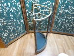 Click to view larger image of Vintage Umbrella Stand Brass finish and wood Cane Stand (Image4)