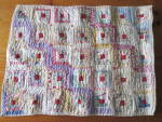 Click here to enlarge image and see more about item 713: Sample Block Quilt Log Cabin Doll Quilt 15 X 20 about