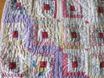Click to view larger image of Sample Block Quilt Log Cabin Doll Quilt 15 X 20 about (Image2)