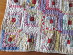 Click to view larger image of Sample Block Quilt Log Cabin Doll Quilt 15 X 20 about (Image3)