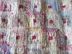 Click to view larger image of Sample Block Quilt Log Cabin Doll Quilt 15 X 20 about (Image4)