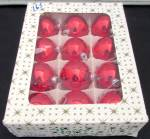 Click here to enlarge image and see more about item 790-16: West Germany Boxed Red Glass Christmas Bulb Ornaments