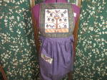 Click here to enlarge image and see more about item 956-17: Hand Crafted Quilted Apron New Beautiful Cotton