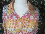 Click here to enlarge image and see more about item bboenp-17e: Blair Blouse Top Floral Woman Size M Medium