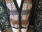 Click here to enlarge image and see more about item bpvwl-17e: Beldoch Popper Vest Women's Size Large Cotton