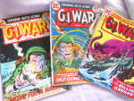 Click here to enlarge image and see more about item MB-COMIC144: GI War Comics Set of 3, 1973