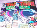 Click here to enlarge image and see more about item MB-COMIC149: Thor Comics Pair, Marvel, 1989