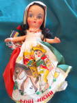 Click here to enlarge image and see more about item MB-COMP64: Composition Doll Spanish Dress Aqui Michu MIB