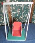 Click here to enlarge image and see more about item d02: Vintage Wooden Doll Swing Circa 1940s
