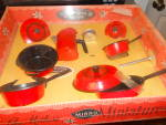 Click here to enlarge image and see more about item MB-DA421: Just Like Mothers Toy Mirro Kitchen Set MIB