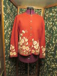 Deborah Ann Burnham Sweater XL Hand made Hand Painted