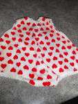 Doll Romper Hong Kong 6 1/2 inch Red Hearts
