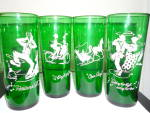 Click here to enlarge image and see more about item MB-DG19: Anchor Hocking Glass Tumblers Forest Green