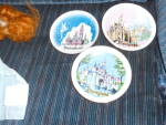 Click here to enlarge image and see more about item MB-DS267: Disneyland Disney Castle Souvenir Plate trio