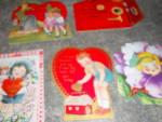 Click here to enlarge image and see more about item MB-PA295: Valentine Cards Set of 5