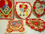 Valentine Cards, Vintage Lot of 5