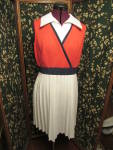 Click here to enlarge image and see more about item prwbvd-17e: Union Made Womens Dress Sleeveless size 16 patriotic
