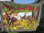 Click here to enlarge image and see more about item tvt-a1: Vintage Bear Tapestry