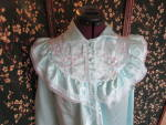 Click here to enlarge image and see more about item vntbwl-17e: Vintage Moonlight Bay Nightgown Size Small Teal blue