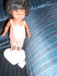 Click here to enlarge image and see more about item MB-VO165: Vogue Ginny Doll African American 1984