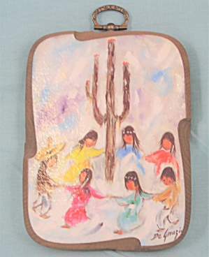 Degrazie Siguaro Dancers Small Wood Plaque