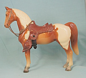 Breyer Western Pony Chestnut Pinto W/snap Saddle