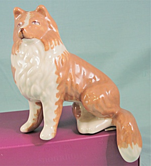 Ceramic Arts Studio Shelf Edge Sitter Collie Dog