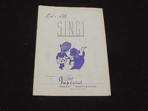 "IMPERIAL ""LET'S ALL SING""  BOOKLET (Image1)"
