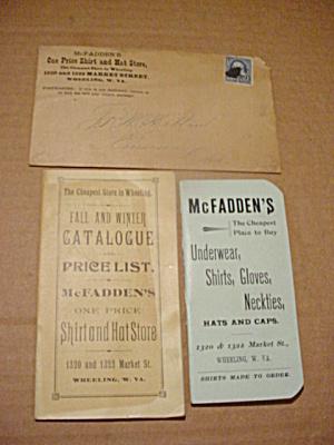 1920's Mcfadden's Wheeling WV Shirt & Hat (Image1)