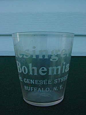 Mesinger's Bohemia  Buffalo, N.Y. Adver Glass (Image1)