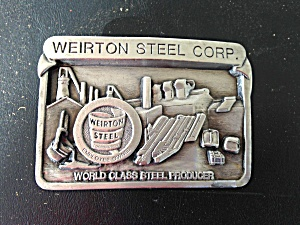 Nice, Weirton Steel Corp. Belt Buckle