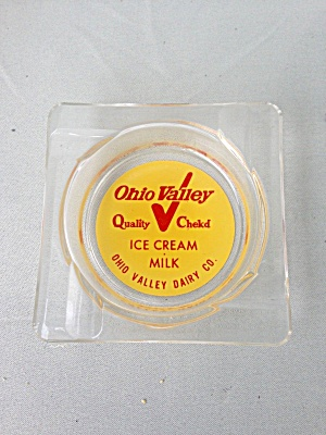 Ohio Valley Dairy Glass Ashtray (Image1)