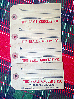 Shipping Labels Beall Grocery Steubenville Oh
