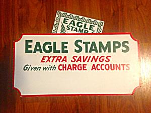Vintage Eagle Stamps Adver. Sign (Image1)