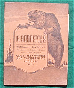 G. Schoepfer New York Taxidermist Catalog (Image1)