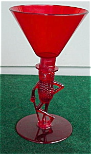 Mr. Peanut Ruby Cocktail Glass (Image1)