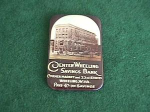 Early Wheeling, WV Savings Bank Adver. Mirror (Image1)